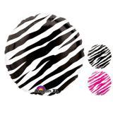 "Folienballon ""Stylischer Zebra-Look"" 43 cm"