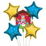 """Folienballon-Set """"Meine kleine Farm"""" 5-tlg."""