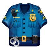 """Form-Pappteller """"Coole Polizei"""" 8er Pack"""