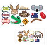 """Foto-Requisiten-Set """"Australien"""" 12-tlg."""