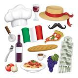 "Foto-Requisiten-Set ""Italien"" 15-tlg."