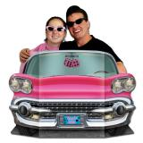 Fotowand pinker Cadillac 94 x 64 cm