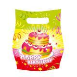"""Geschenk-Tüten """"Happy Birthday Kuchen"""" 6er Pack"""