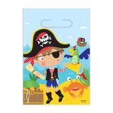 """Geschenktütchen """"Kleiner mutiger Pirat"""" 8er Pack"""