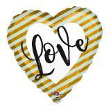 """Gestreifter Folienballon """"Love"""" 43 cm"""