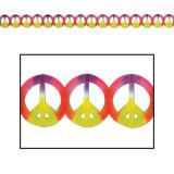 Girlande Batik Peacezeichen 3,7 m