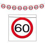 Girlande Verkehrsschild 60. Geburtstag 12 m