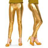 Glänzende goldene Leggins