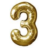 Glänzender Folien-Ballon in Zahlenform 58 x 88 cm-3-gold