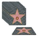 Untersetzer Walk of Fame 9 cm im 8er Pack