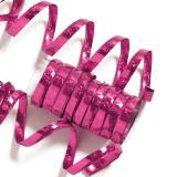 Einfarbige Glitzer Luftschlangen-pink