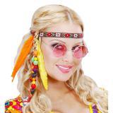 """Haarband """"Happy Hippie"""" mit Federn und Perlen"""