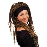 Perücke Rastalocken mit Haarband