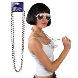 Halskette Discokugeln 38cm 2er Pack