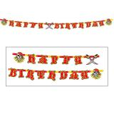 "Happy Birthday-Girlande ""Wilde Piraten"" 2,5 m"