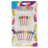 """""""Happy Birthday""""-Kerzen mit Halterung 13-tlg."""