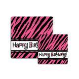 "Happy Birthday-Pappteller ""Pinker Tiger"" 8er Pack"