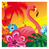 """Servietten """"Aloha und Flamingo"""" 12er Pack"""
