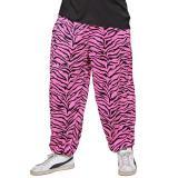 """Herren-Hose """"80s Baggy Pants Pink Zebra"""""""