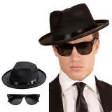 """Hut und Brille """"Blues Man"""" 2-tlg."""