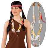 """Indianer-Halskette """"Perlen und Federn"""""""