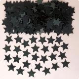 """Konfetti """"Einfarbige Sternchen"""" 14 g-schwarz"""