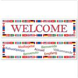 "Banner Welcome ""Internationale Flaggen"" 2-tlg."