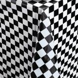 """Karierte Tischdecke """"Black & White"""" 137 x 274 cm"""