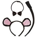 """Kinder Kostüm-Set """"Maus"""" 3-tlg."""