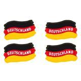 Klebetattoo Deutschland-Flagge 4er Pack