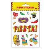 Kleine Aufkleber Mexikanische Fiesta 4er Pack