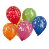 """Kleine Luftballons """"Herzlichen Glückwunsch"""" bunt 8er Pack"""