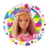 "Kleine Pappteller ""Bunte Barbie Welt"" 8er Pack"
