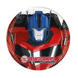 "Kleine Pappteller ""Coole Transformers"" 8er Pack"