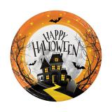 "Kleine Pappteller ""Happy Halloween"" 8er Pack"