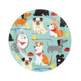 """Kleine Pappteller """"Hunde Party"""" 8er Pack"""