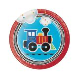 """Kleine Pappteller """"Kunterbunte Eisenbahn"""" 8er Pack"""