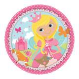"""Kleine Pappteller """"Liebliche Prinzessin"""" 8er Pack"""