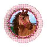 "Kleine Pappteller ""Süße Pferde"" 8er Pack"