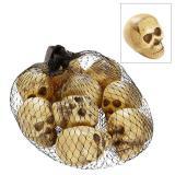 Kleine Schädel aus Kunststoff 9er Pack