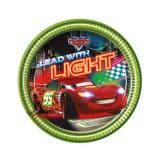 "Kleine Pappteller ""Cars Neon City"" 8er Pack"