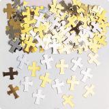 """Konfetti """"Kreuz"""" silber/gold 14g"""