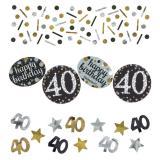 """Konfetti-Set """"Funkelnder Geburtstag"""" 40 Jahre 34 g"""
