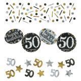 """Konfetti-Set """"Funkelnder Geburtstag"""" 50 Jahre 34 g"""