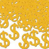 """Konfetti """"Goldene Dollarzeichen"""" 28 g"""