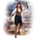 """Kostüm """"Furchtlose Piratin"""" 4-tlg."""
