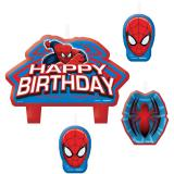 "Kuchenkerzen ""Spiderman-Party"" 4-tlg."