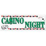 "Kunststoff-Banner ""Casino Night"" 1,5 m x 53 cm"