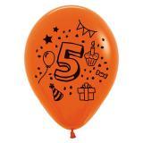 Kunterbunte Zahlen-Luftballons 7er Pack-5