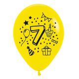 Kunterbunte Zahlen-Luftballons 7er Pack-7
